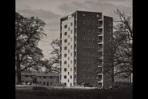 The Lawns in Harlow, the winner of the awards in 1951 and  the Sinclair building, Sheffield's reigning champion